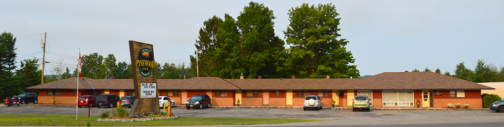 View of the front of the motel from the road.